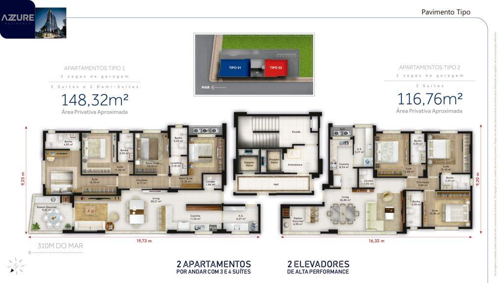 Apartamento no Azzure Residence